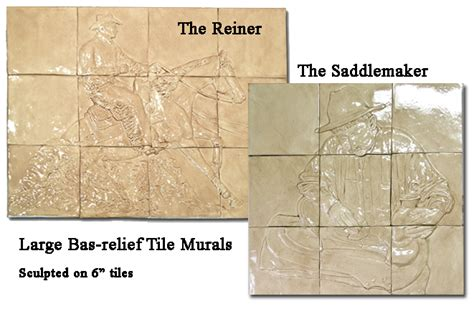 1 Inch Tick Ceramic Tile - bas relief ceramic tile murals reining and the