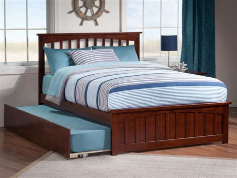 Trundle Bed Bedroom Sets by Mission Matching Footboard Trundle Bed Atlantic Furniture