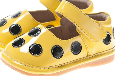 yellow toddler shoes discontinued polka dot patent squeaky shoes yellow