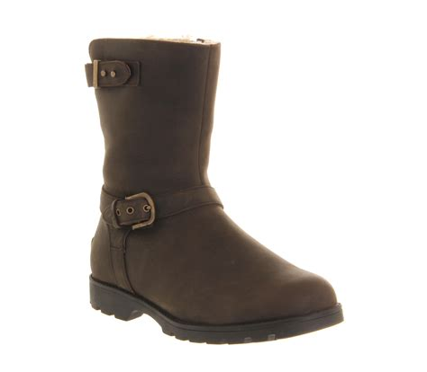 brown biker boots ugg australia grandle biker boot brown ankle boots