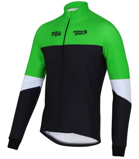 green cycling jacket buy stolen goat climb and conquer winter cycling jacket