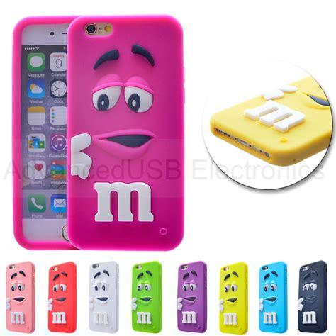 new coque m m s pour iphone 6 4s 5s silicone souple etui housse 3d chocolate ebay