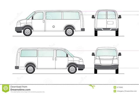 van layout vector delivery blank white van illustration stock photography