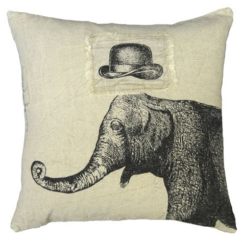 Sugarboo Designs Pillows by 24 Quot X 24 Quot Hat Elephant Pillow By Sugarboo Designs