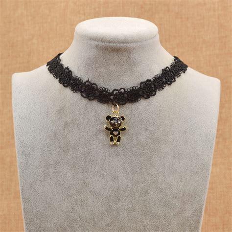 tattoo flower choker gothic black lace ribbon flower choker tattoo collar