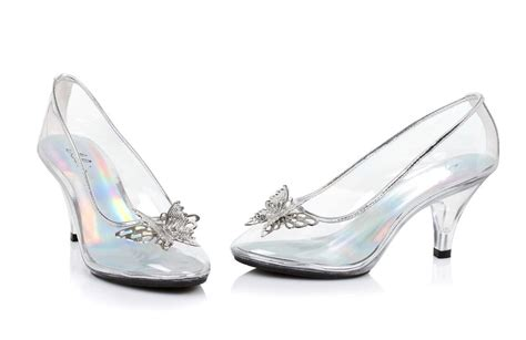 clear glass slippers cinderella costume shoes wedding