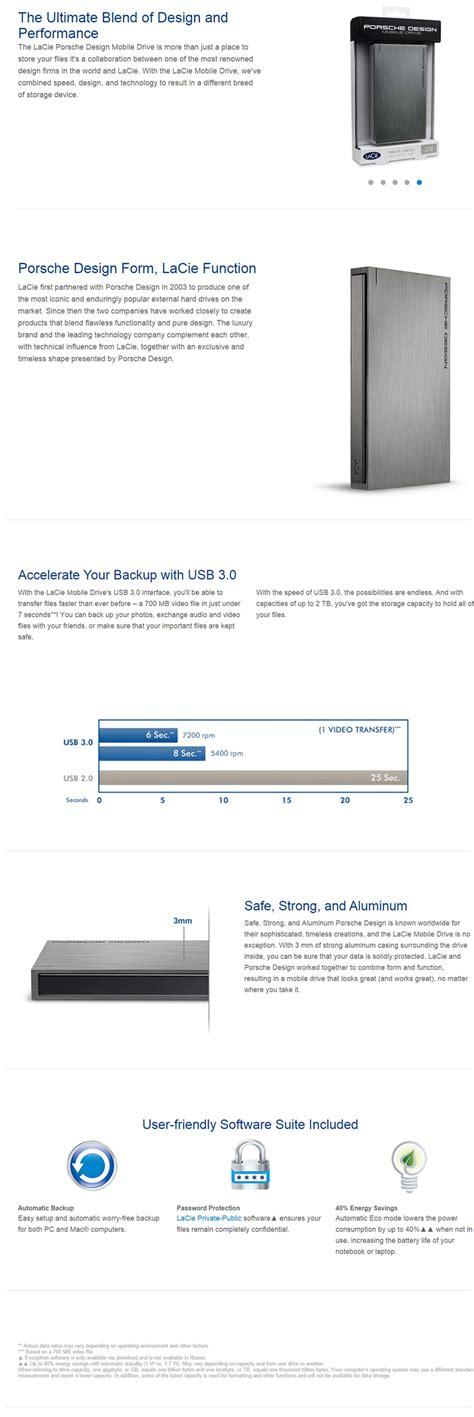format lacie external hard drive for mac and pc lacie 1tb porsche design dark aluminium external hard disk