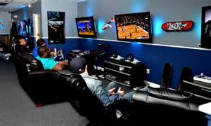 Cool Master Bedrooms gaming lounge with everything from xbox one to nes