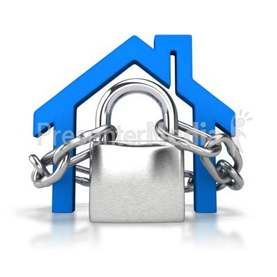 locked house outline home and lifestyle great clipart