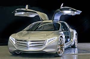 future new cars mercedes f125 gullwing fuel cell concept leaks ahead