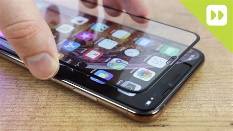 olixar iphone xs max cover glass screen protector installation guide review