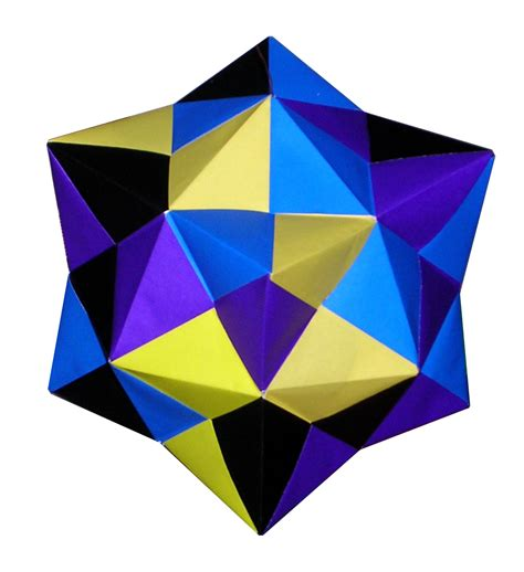 Cuboctahedron Origami - origami constructions stellated cuboctahedron by tomoko fuse