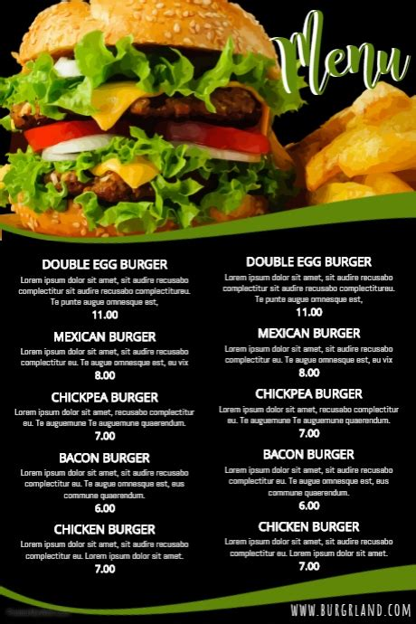 menu design exles restaurants simple food restaurant menu template postermywall