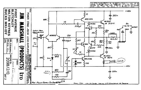 marshall circuit diagram circuit and schematics diagram