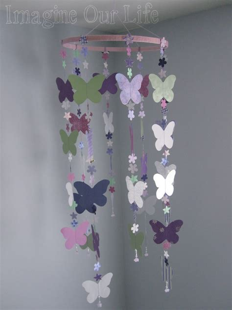 How To Make A Paper Butterfly Mobile - sewn paper mobile tutorial imagine our