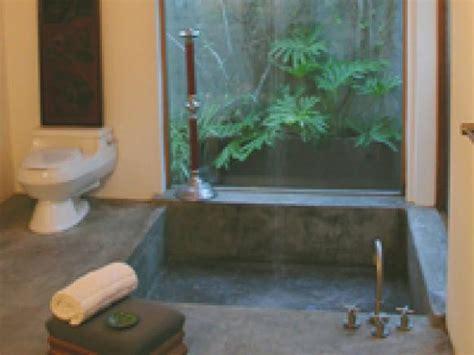 zen bathtub connect with nature in your zen bathroom hgtv