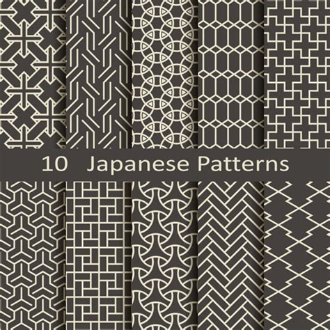 oriental pattern vector free download vector japanese style seamless patterns vector pattern