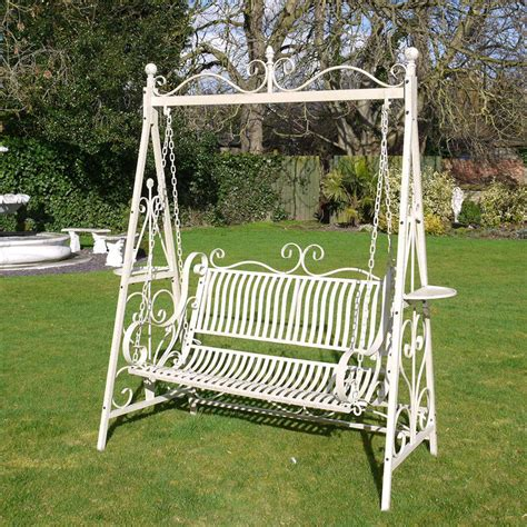 swing bench outdoor garden benches ukmetal garden benchgarden swing candle and