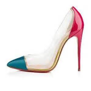 Christian Pink Pumps 35 5 Made In Italy christian louboutin debout patent clear pvc heels pumps