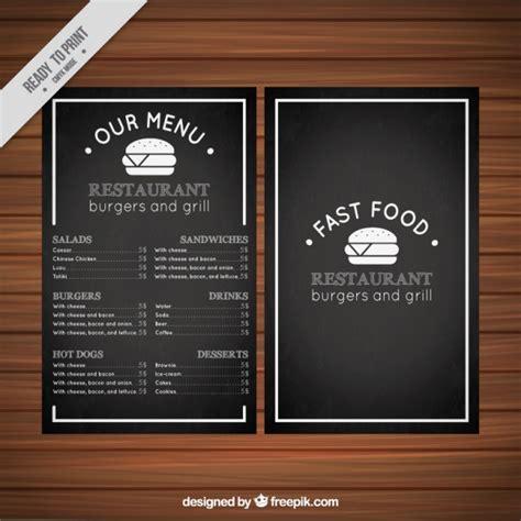 fast template fast food menu template vector premium