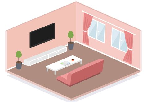 Living Room Vector Images Free Isometric Living Room Vector Free Vector
