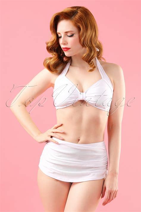 Nasya Blouse White 50 50s classic in white