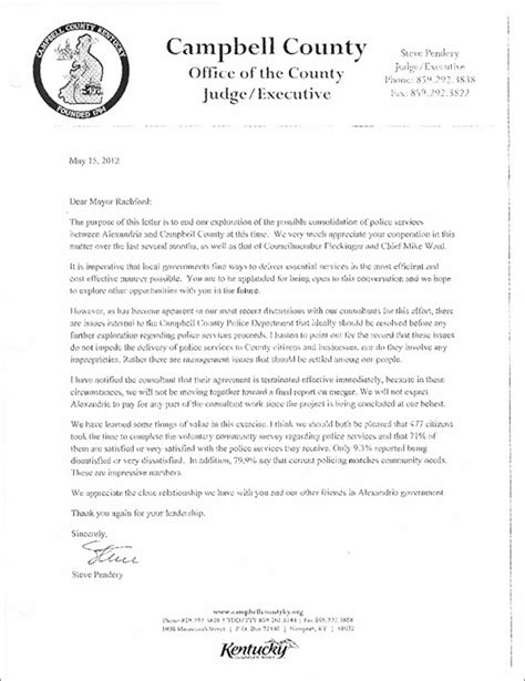 letter cancellation experiment alexandria ky merger study cancellation letter