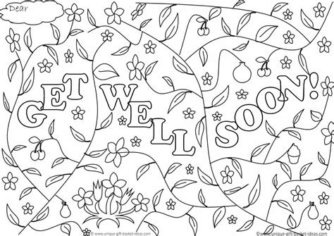 printable coloring pages get well cards greetings printable get well soon cards coloring pages