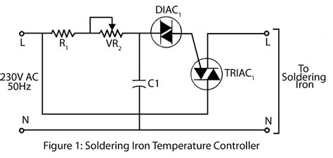 circuit diagram of soldering iron soldering iron temperature controller electronics project