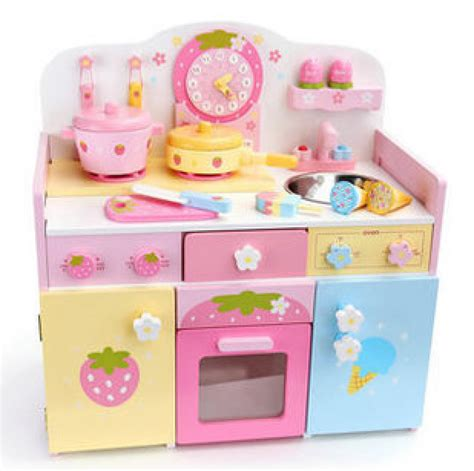 Baby Play Kitchen by Wooden Kitchen Costway Wood Kitchen Cooking