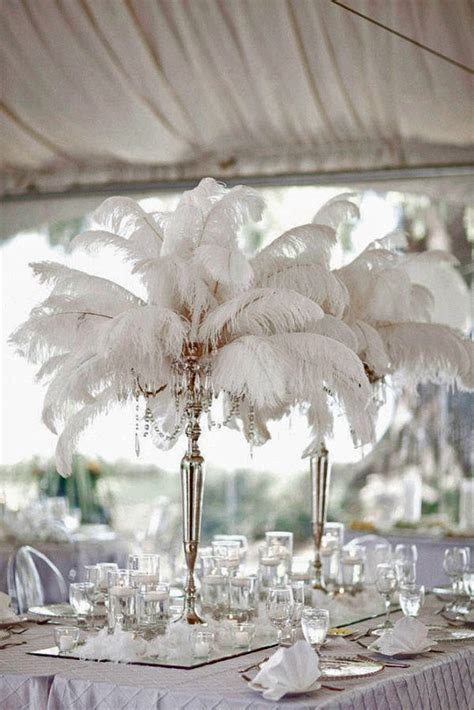 25  best Feather Wedding Centerpieces ideas on Pinterest