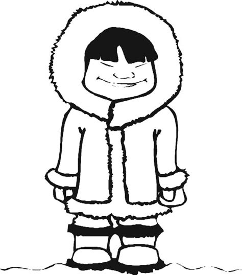 eskimo coloring page coloring page for kids
