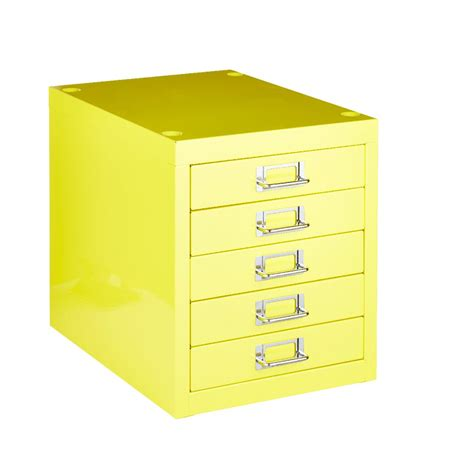 Yellow Filing Cabinet New Spencer Desktop 5 Drawer Office Filing Storage Cabinet A4 Yellow Ebay