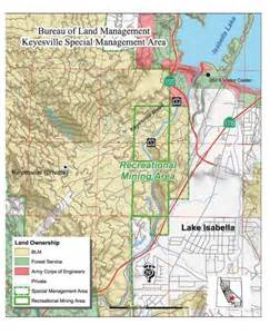 keysville recreational mining area map