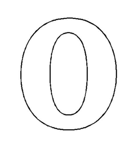 Number 0 Coloring Page by Coloring Pages Of Number 0 Coloring Pages