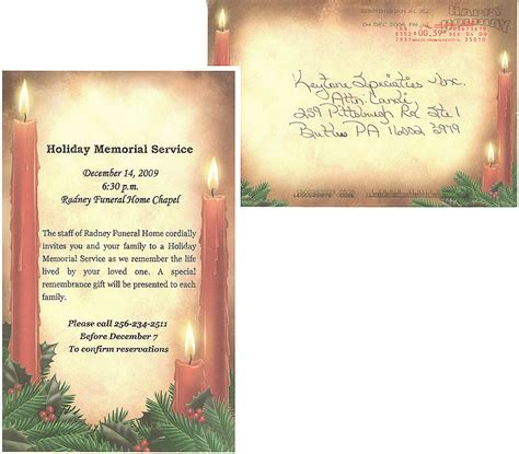 memorial service notice template memorial service invitations