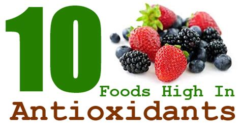 10 Best Antioxidant Foods by 10 Foods High In Antioxidants Taste And