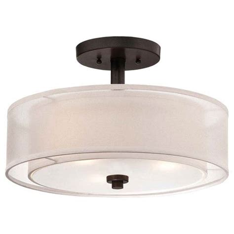 mill mason lighting mill mason harrow bronze three light drum semi flush