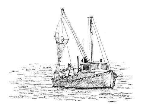 small fishing boat drawing fishing boat sketches