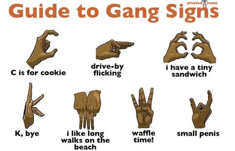 visual guide to gang signs complex