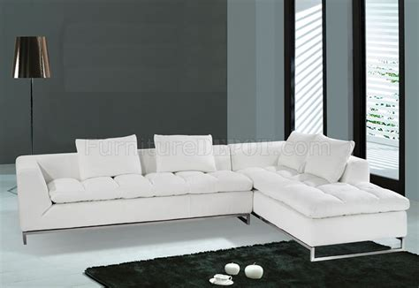 contemporary white sofa f32 sectional sofa white leather model f 32