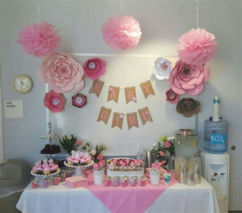 Office Baby Showers by Baby Shower At The Office Cardstock Paper Flowers