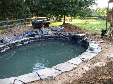 koi pond construction pictures
