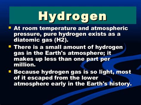 hydrogen at room temperature hydrogen and its importance
