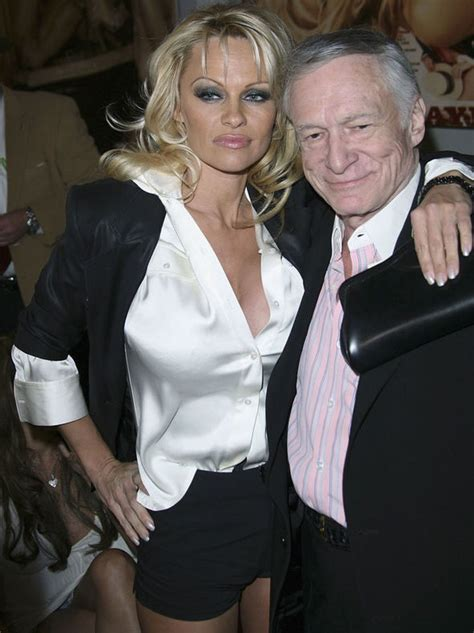 Hefner Thrilled About Pam Andersons Divorce by Flaunts Figure In Lacy Bra As She Mourns