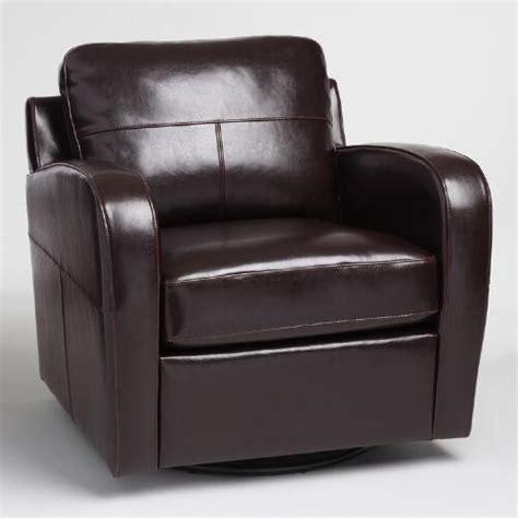 bi cast leather upholstery espresso bi cast leather mason swivel chair world market