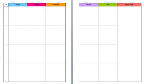 weekly planner template for teachers teachers weekly planner template