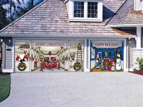 merry christmas festive garage door magnets christmas