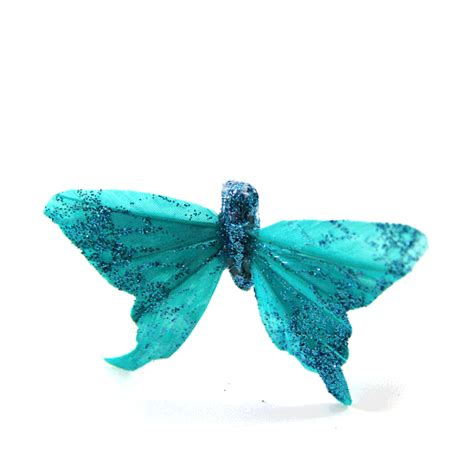 turquoise sparkle butterflies turquoise butterfly