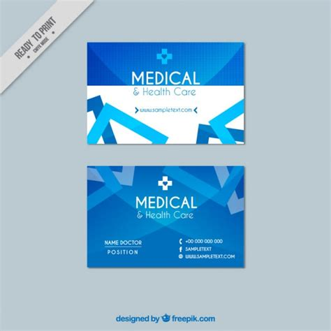 medical card section contact number medical business card vector free download